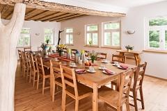 Der Rote Saal als Frühstücksraum