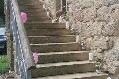 Dekoration der Außentreppe